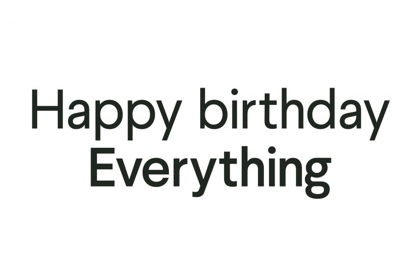 Happy birthday Everything